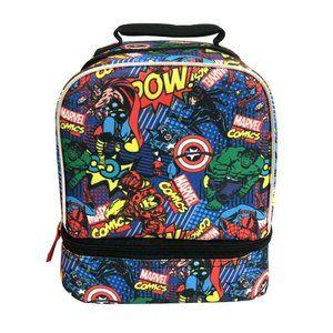 Marvel Avengers Comic Print Dual Lunch Bag